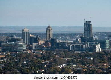 Aerial view of Sandton skyline