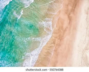 Aerial view of a sandy beach