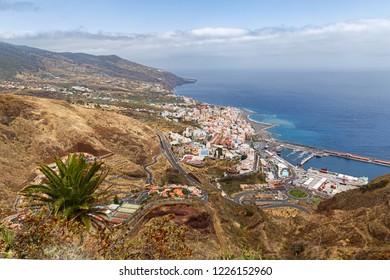 Aerial View of Santa Cruz de La Palma, Canary Islands