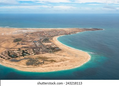 Aerial view of Santa Maria in Sal Island Cape Verde - Cabo Verde