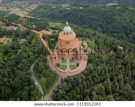Aerial view of Santuario