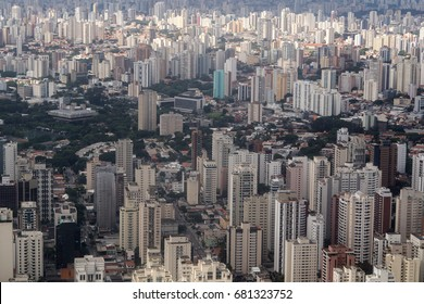 Aerial view Sao Paulo city - Brazil - Growth of cities