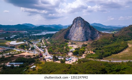 Aerial view of Sattahip, Chonburi Thailand. Aerial view from drone.