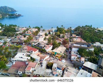 Aerial view of Sayulita Mexico
