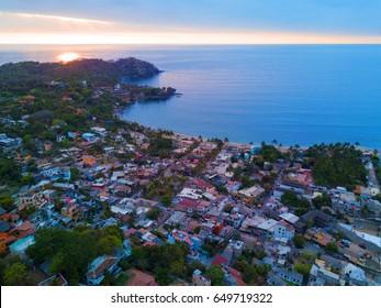Aerial view of Sayulita Nayarit, Mexico