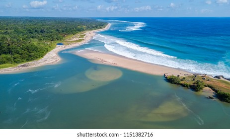 Aerial view of scenic view in Sumba Island, East Nusa Tenggara of Indonesia