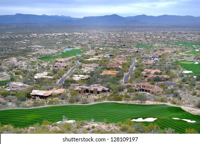 Aerial View of Scottsdale, Arizona from Pinnacle Peak Mountain