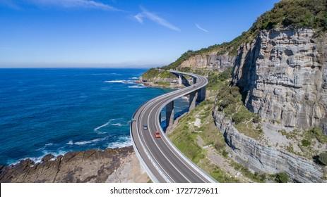 Aerial View of Sea Cliff Bridge, Wollongong, Illawarra, NSW