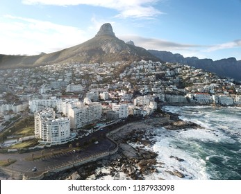 Aerial view of Sea Point, Cape Town, South Africa