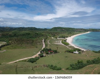 Aerial view of Seger Beach Lombok Indonesia