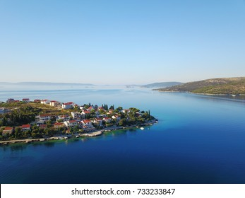 Aerial view of Seget Vranjica in Croatia