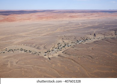 Aerial view of the Sesriem Canyon, Namibia, Africa