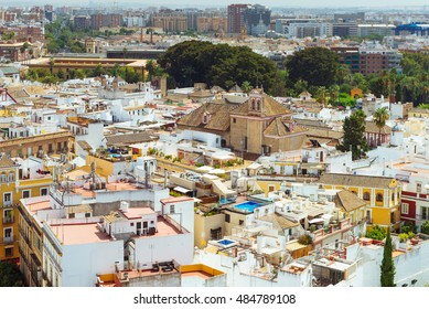 Aerial view of Seville, Spain.