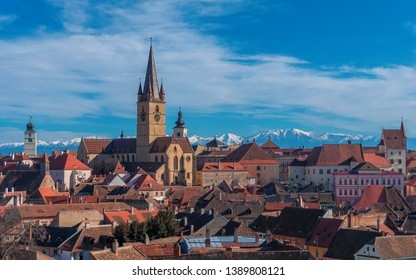 Aerial view of Sibiu, place of Informal Summit of Heads of State or Government of the European Union