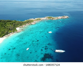 Aerial view of Similan island in Thailand