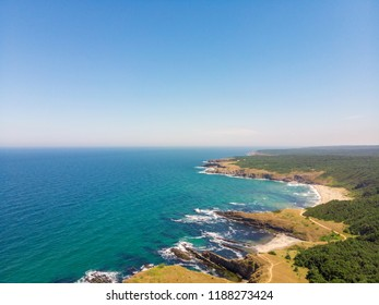 Aerial view of Sinemorets, Bulgaria at summer.