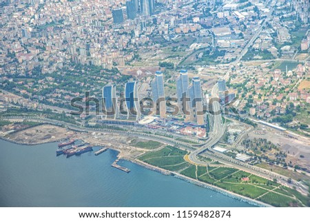 Aerial View Skyscrapers Kartal District Asian Stock Photo Edit Now