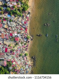 Aerial view of Slum in Luanda, Angola.