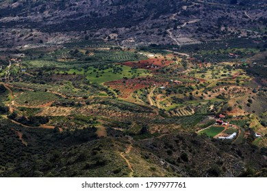 Aerial View Of A Small Village in Nicosia, Cyprus