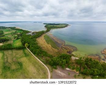 Aerial view of Sniardwy lake