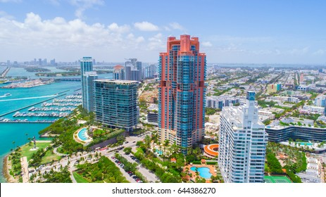 Aerial view of South Beach. Miami Beach. Florida. USA.
