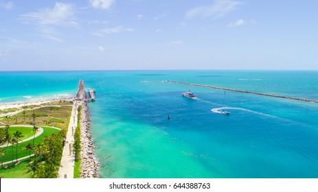 Aerial view of South Beach. Miami Beach. Florida. USA.