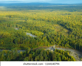 Aerial view of South Central Alaska. United States of America (USA). - Shutterstock ID 1144140794