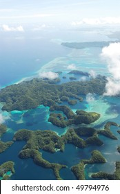 Aerial View of South Pacific Islands