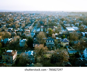 Aerial view of South Saint Louis, Compton Heights and Tower Grove South neighborhoods