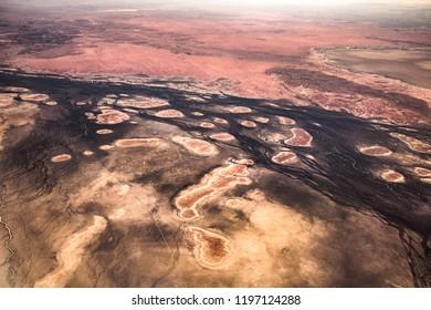 Aerial view of Southern Australia - near Lake Yamma Yamma