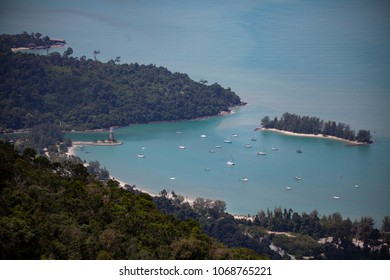 Aerial View of the southern coast of the island of Langkawi, Malaysia