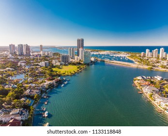 Aerial view of Southport on the Gold Coast, Queendsland, Austral