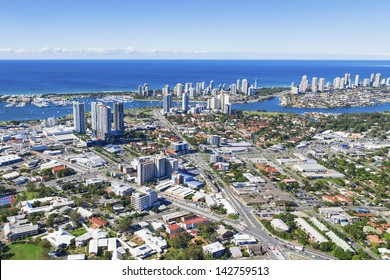 Aerial view of Southport, Queensland, Australia