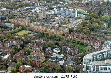 Aerial view of Southwark district - London, UK