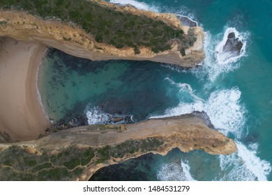 Aerial view of Sparkes Gully, Great Ocean Road