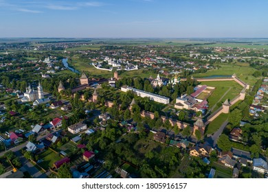 Aerial view of the Spaso-Evfimiev Monastery in Suzdal, Golden Ring of Russia.