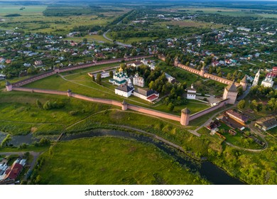 Aerial view of the Spaso-Evfimiev monastery in Suzdal, Russia.
