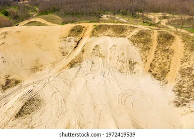 "Aerial view of Special Reserve ""Đurđevac Sands"" in Croatia - Shutterstock ID 1972419539"