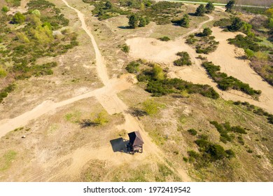 "Aerial view of Special Reserve ""Đurđevac Sands"" in Croatia - Shutterstock ID 1972419542"