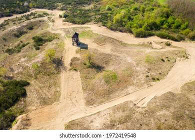 "Aerial view of Special Reserve ""Đurđevac Sands"" in Croatia - Shutterstock ID 1972419548"