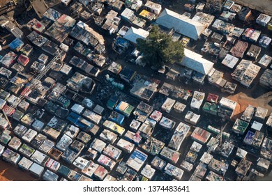 Aerial view of a squatter camp in Johannesburg