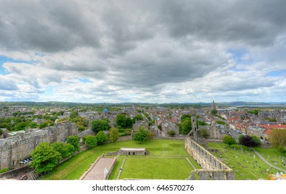 Aerial View of St. Andrews, Scotland.