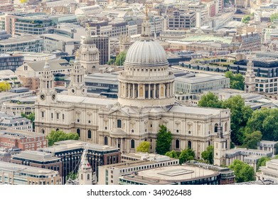 Aerial View of St Paul Cathedral, London, UK