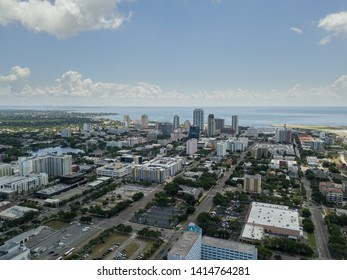 Aerial view of St. Petersburg, Florida with Downtown in the Background