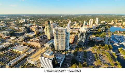 Aerial view of St. Petersburg, Florida