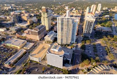 Aerial View of St. Petersburg, Florida.