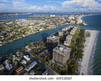 Aerial view of St. Petersburg, Treasure Island
