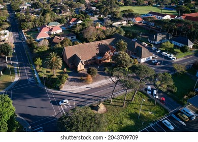 Aerial view of the St Stephen's Anglican Church in Pinelands, Cape Town, Western Province, South Africa. 15 September 2021.