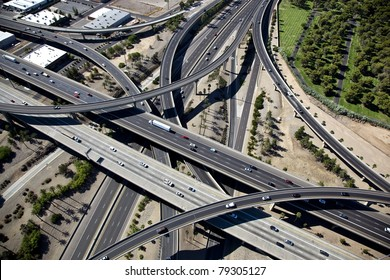 Aerial view of the Stack Interchange