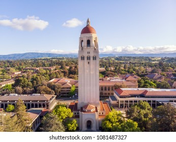 Aerial View Of Stanford University, Palo Alto, Silicon Valley. 28 April 2018